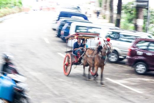 Bendi, salah satu moda transportasi tradisional yang ada di kota Bukittinggi